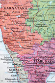 South Indian Map — Stock Photo