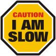 I am Slow — Stock Photo