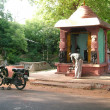 Roadside Hindu Temple - Stock Photo