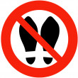 Shoes, Slippers Prohibited — Stock Photo