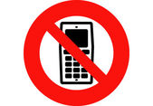 Mobile Phones Banned — Stock Photo