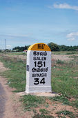 Milestone on National Highway 47 — Stock Photo