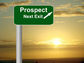 Prospect freeway sign post. — Stock Photo