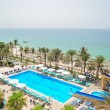 Swimming pool and beach area, UAE — Stock Photo