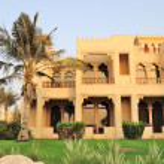 Villa in luxurious hotel, Dubai, UAE — Stock Photo