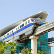 The Palm Jumeirah monorail train - Stock Photo