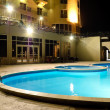 Stock Photo: SPswimming pool in night illumination