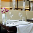 Restaurant in luxury hotel, Dubai UAE — Foto Stock