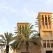 Arabic building with wind towers during — Stock Photo #1264291