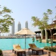 Recreation area at hotel in Dubai — Stock Photo