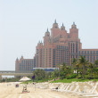 Stock Photo: Beach of Atlantis Palm hotel, Dubai