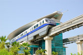 The Palm Jumeirah monorail train — Stock Photo