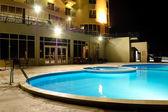 SPA swimming pool in night illumination — Stock Photo