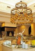 Restaurant decoration in luxury hotel — Stock Photo