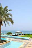Hotel recreation area, Fujeirah, UAE — Stock Photo