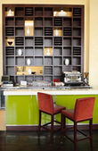 Coffee bar in luxury hotel, Dubai, UAE — Stock Photo