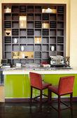 Coffee bar in luxury hotel, Dubai, UAE — Stock Photo