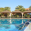 Swimming pool are of popular hotel — Stock Photo
