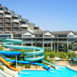 Aqua park at hotel, Antalya, Turkey — Stock Photo