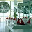 Stock Photo: Restaurant in modern hotel