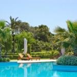 Swimming pool at VIP hotel — Stock Photo