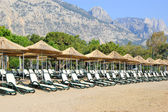 Beach on Mediterranean Sea, Antalya — Stock Photo