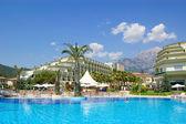 Swimming pool at hotel in Antalya — Stock Photo