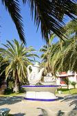 Decorazione della zona hotel, antalya — Foto Stock