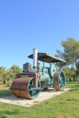 Old steam powered road roller, Antalya — Stock Photo