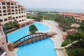 Hotel no mar mediterrâneo, antalya — Fotografia Stock