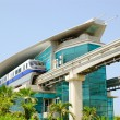 The Palm Jumeirah monorail station — Stock Photo