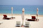 Beach of luxury hotel, Fujeirah, UAE — Stock Photo