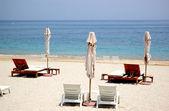 Beach of luxury hotel, Fujeirah, UAE — Stock Photo