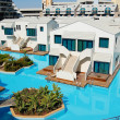 Villas at turkish mediterranean resort — Stock Photo