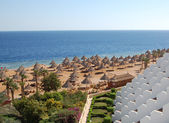 Beach at hotel in Sharm el Sheikh — Stock Photo