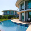 Modern villas at turkish resort — Stock Photo
