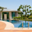 Modern villa at turkish resort - Stock Photo