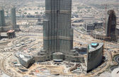 Construction of Burj Dubai(Burj Khalifa) — Stock Photo