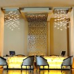 Lobby area in luxury hotel — Stock Photo