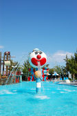 Popular aquapark at Turkish hotel — Stock Photo