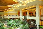 Reception lobby area in luxury hotel — Stock Photo