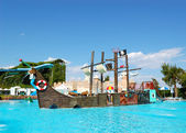 Popular aquapark at Turkish hotel — ストック写真