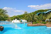 Aqua park in popular Turkish hotel — Stock Photo