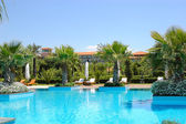 Swimming pool at Turkish hotel, Antalya, Turkey — Stock Photo