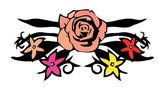 Rose vector illustration — Stock Vector