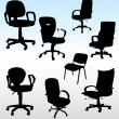 Royalty-Free Stock Vector Image: Office armchairs patterns composition