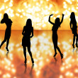 Sexy girls silhouettes — Stock Photo