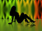 Sexy girl silhouette — Stock Photo