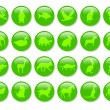 Green icons — Stock Photo #1312905