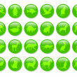 Green icons — Stock Photo